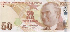 Türkei / Turkey P.225a 50 Lira 2009 (1)