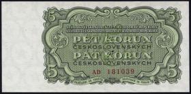 Tschechoslowakei / Czechoslovakia P.82 5 Kronen 1961 (1)