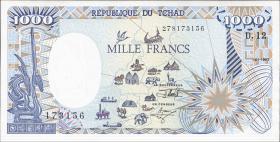 Tschad / Chad P.10Ac 1000 Francs 1992 (1)