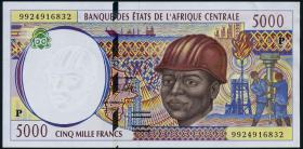 Tschad / Chad P.604Pe 5000 Francs 1999 (1-)