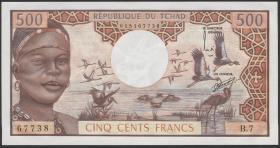 Tschad / Chad P.02a 500 Francs (1974) (1)