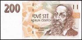 Tschechien / Czech Republic P.06a 200 Kronen 1993 (1)