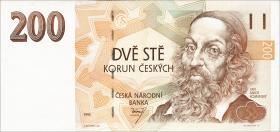 Tschechien / Czech Republic P.06a 200 Kronen 1993 (2)
