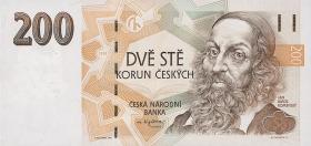 Tschechien / Czech Republic P.19 200 Kronen 1998 (1)