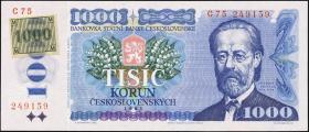 Tschechien / Czech Republic P.03a 1000 Kronen (1993) (1)