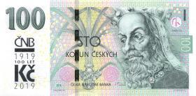 Tschechien / Czech Republic P.neu 100 Kronen 2018 Gedenbanknote (1)