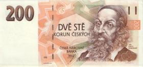 Tschechien / Czech Republic P.06a 200 Kronen 1993 (1-)