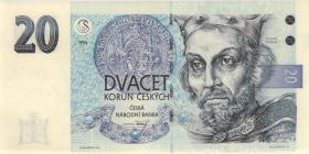 Tschechien / Czech Republic P.10b 20 Kronen 1994 (1)