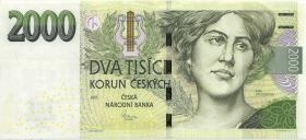 Tschechien / Czech Republic P.26a 2000 Kronen 2007 C (1)