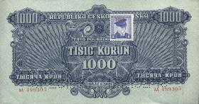 Tschechoslowakei / Czechoslovakia P.57s 1000 Kronen (1945) (2+)