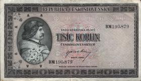 Tschechoslowakei / Czechoslovakia P.65a 1000 Kronen (1945) (3)