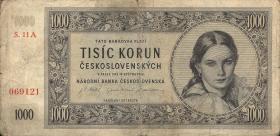 Tschechoslowakei / Czechoslovakia P.74 1000 Kronen 1945 (3)
