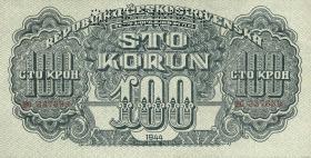 Tschechoslowakei / Czechoslovakia P.48s 100 Kronen 1944 Specimen (1)