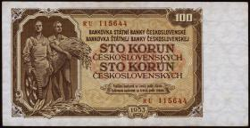 Tschechoslowakei / Czechoslovakia P.86b 100 Kronen 1953 (3)