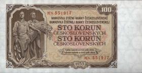 Tschechoslowakei / Czechoslovakia P.86b 100 Kronen 1953 (1)