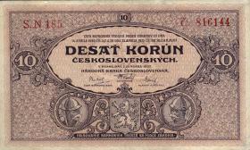 Tschechoslowakei / Czechoslovakia P.20a 10 Kronen 1927 (1-)
