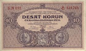 Tschechoslowakei / Czechoslovakia P.20a 10 Kronen 1927 (1)