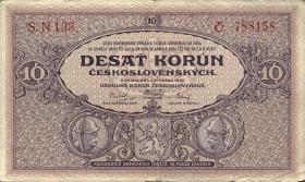 Tschechoslowakei / Czechoslovakia P.20a 10 Kronen 1927 (4)