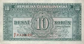 Tschechoslowakei / Czechoslovakia P.60s 10 Kronen (1945) Specimen (1)