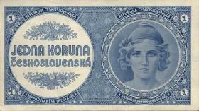 Tschechoslowakei / Czechoslovakia P.58a 1 Krone (1946) (1)