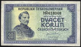 Tschechoslowakei / Czechoslovakia P.61a 20 Kronen (1945) (1)
