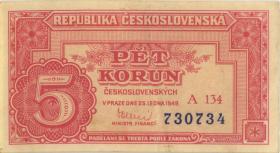 Tschechoslowakei / Czechoslovakia P.59a 5 Kronen (1945) (2)