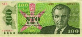Tschechoslowakei / Czechoslovakia P.97 100 Kronen 1989 (3+)