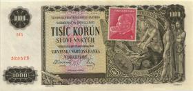 Tschechoslowakei / Czechoslovakia P.056S 1000 Kronen (1945) (1)