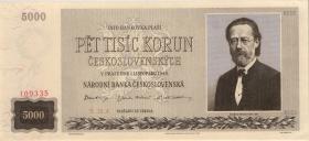 Tschechoslowakei / Czechoslovakia P.075s1 5000 Kronen 1945 Specimen (1)