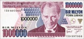 Türkei / Turkey P.209 1.000.000 Lira 1970 (1995) (1)
