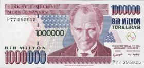 Türkei / Turkey P.213 1.000.000 Lira 1970 (2002) (1)