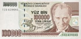 Türkei / Turkey P.206 100.000 Lira 1970 (1997) (1)