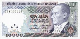 Türkei / Turkey P.200 10000 Lira 1970 (1989) (1)