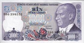 Türkei / Turkey P.196 1000 Lira 1970 (1986) (1)