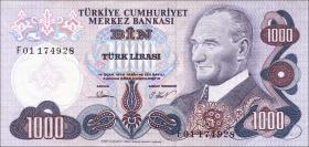 Türkei / Turkey P.191 1000 Lira 1970 (1)