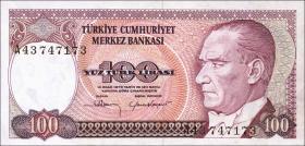 Türkei / Turkey P.194a 100 Lira 1970 (1984) (1)