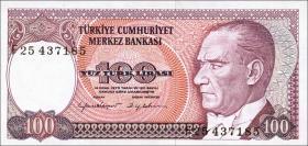 Türkei / Turkey P.194b 100 Lira 1970 (1984) (1)