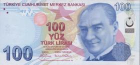 Türkei / Turkey P.226a 100 Lira 2009 (1)