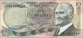 Türkei / Turkey P.186 10 Lira 1970 (1975) (1)