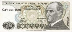 Türkei / Turkey P.192 10 Lira 1970 (1979) (1)