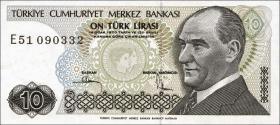Türkei / Turkey P.193b 10 Lira 1970 (1979) (1)