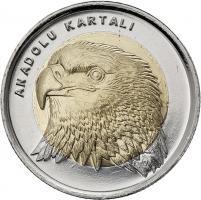 Türkei 1 Lira 2014 Adler