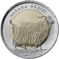 Türkei 1 Lira 2015 Angoraziege