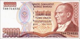 Türkei / Turkey P.202 20000 Lira 1970 (1995) (1)