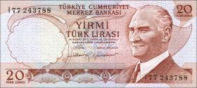 Türkei / Turkey P.187b 20 Lira 1970 (1974) (1)