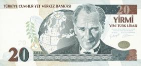 Türkei / Turkey P.219 20 Neue Lira 2005 (1)