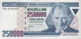 Türkei / Turkey P.211 250.000 Lira 1970 (1998) (1)