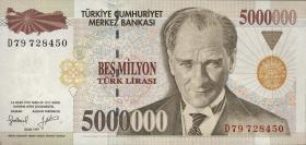 Türkei / Turkey P.210 5.000.000 Lira 1997 (1)