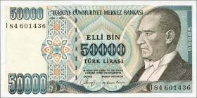 Türkei / Turkey P.203 50000 Lira 1970 (1989) (1)