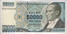 Türkei / Turkey P.204 50000 Lira 1970 (1995) (1)